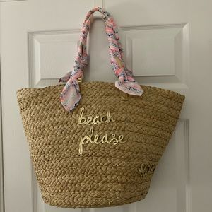 Lilly Pulitzer Straw Beach Bag Tote